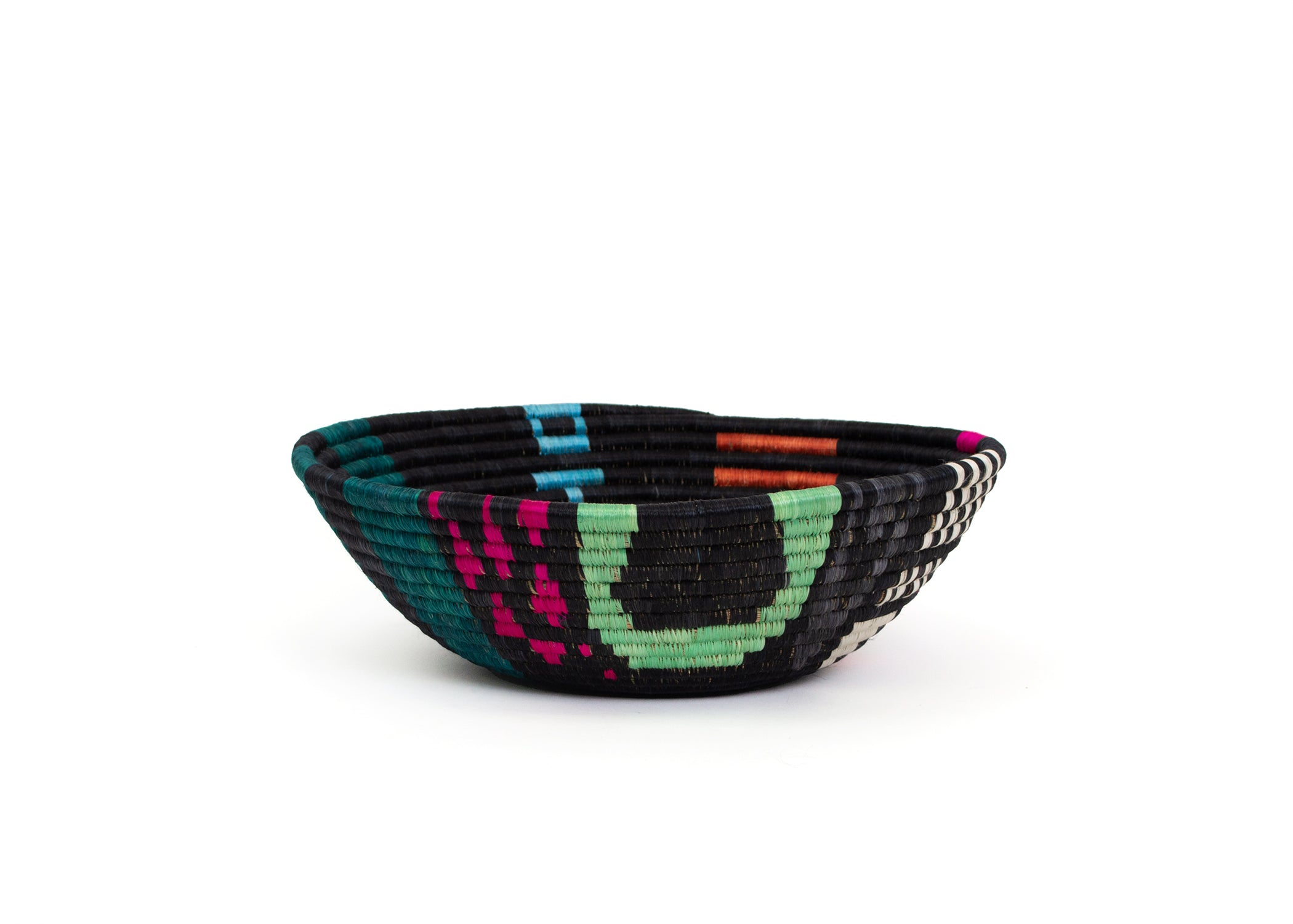 Extra Large Black + Neon Cheza Bowl - KAZI - Artisan made high quality home decor and wall art