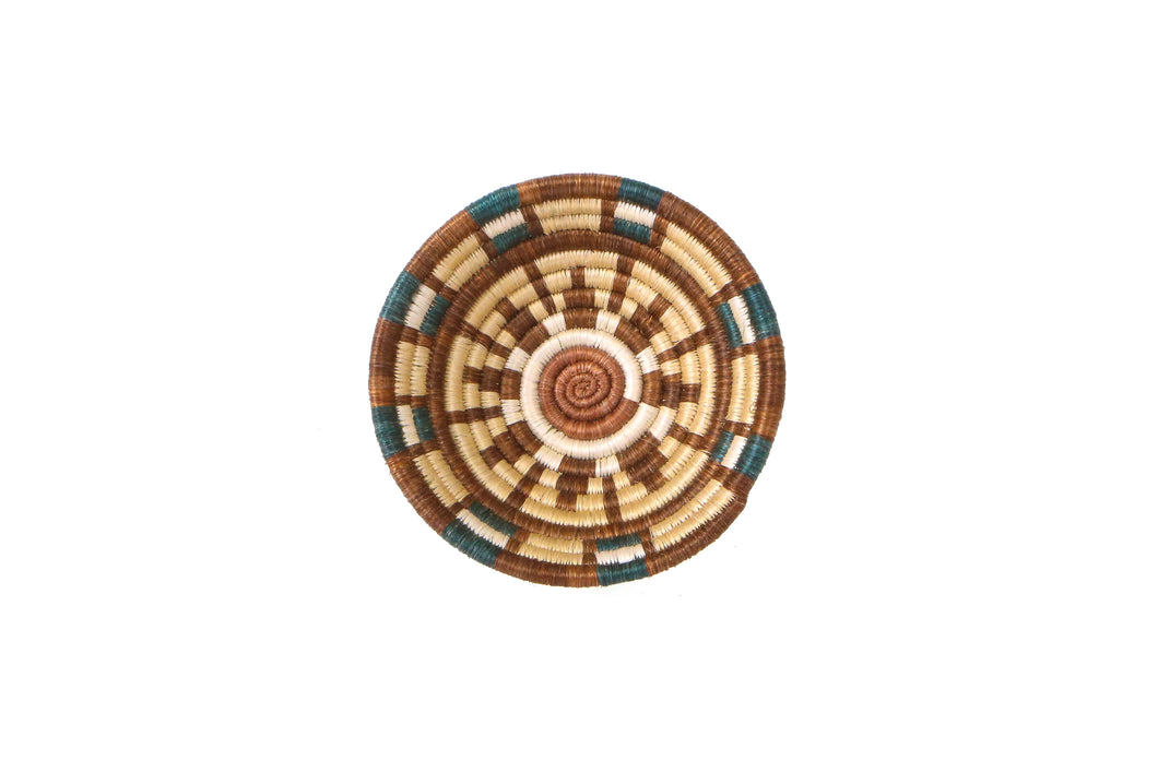Small Sand + Hunter Green Kisasa Bowl - KAZI - Artisan made high quality home decor and wall art