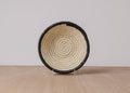 Dipped Black + Natural Small Raffia Bowl