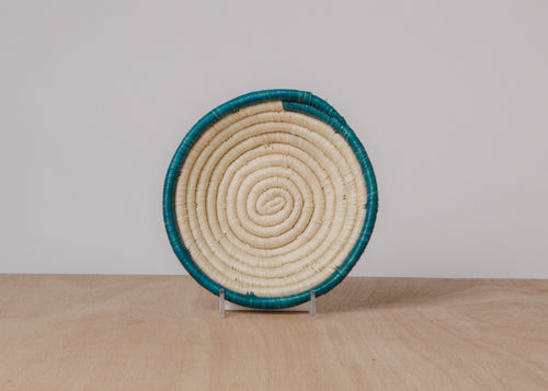 Dipped Blue Night II Small Raffia Bowl