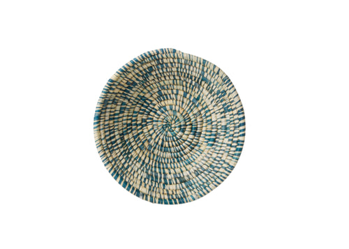 Heathered Blue Night Small Raffia Bowl