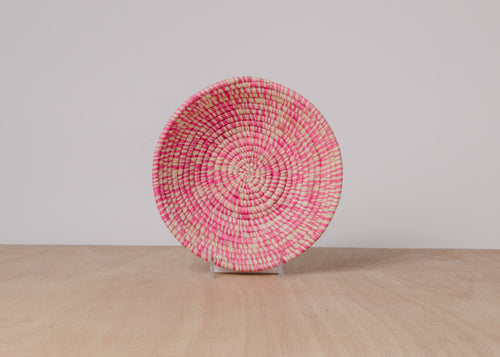 Heathered Fandango Pink Small Raffia Bowl