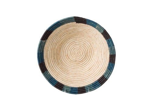 Cool Color Blocked Dipped Raffia Large Bowl
