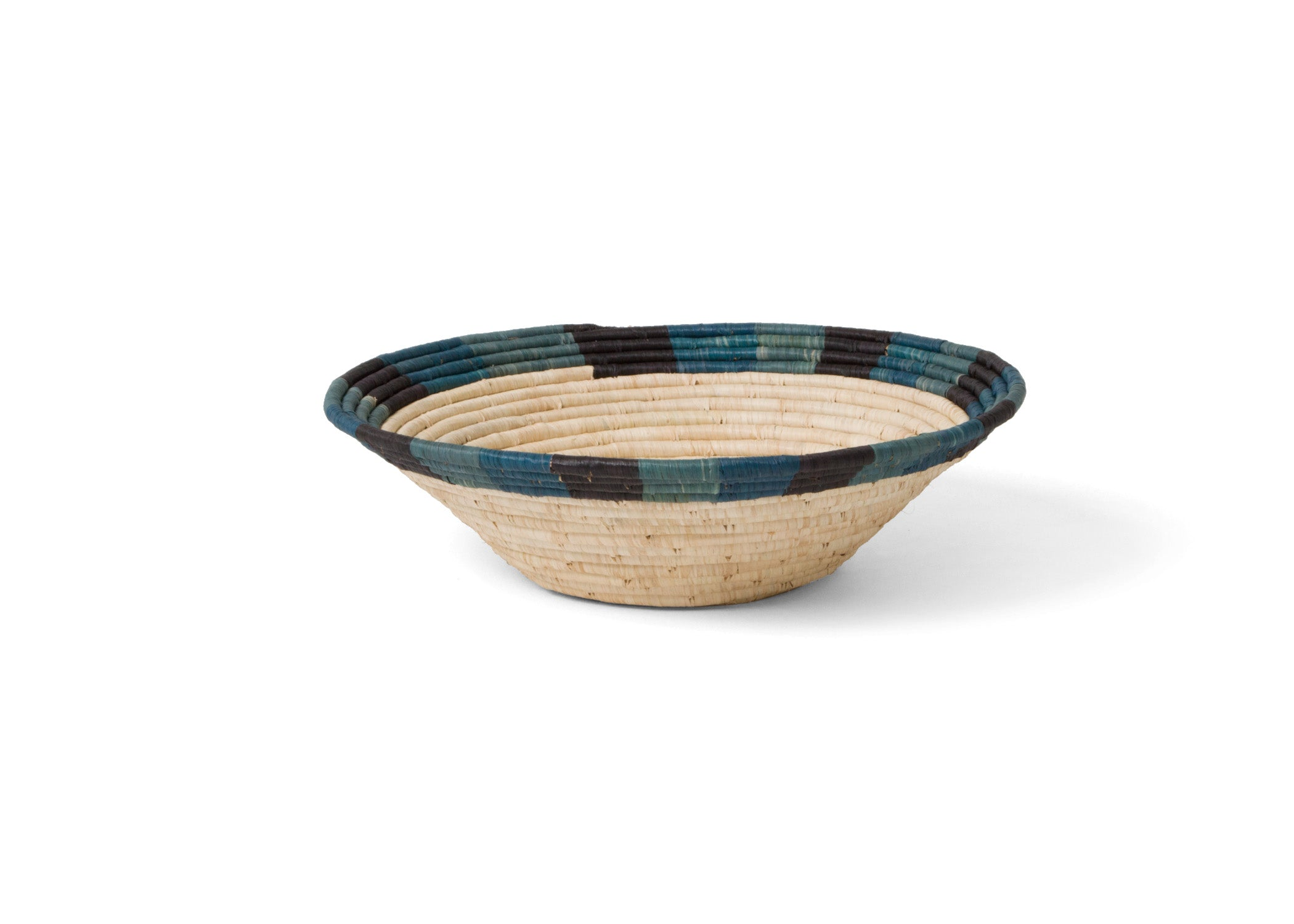 Cool Color Blocked Dipped Large Bowl - KAZI - Artisan made high quality home decor and wall art