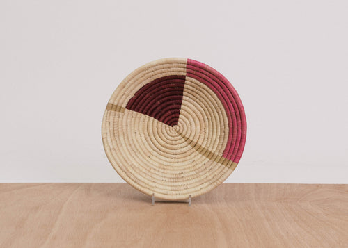 Geo Rosette Medium Raffia Bowl