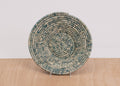 Heathered Slate Large Raffia Bowl