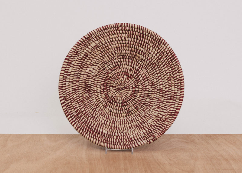 Heathered Berry Large Raffia Bowl