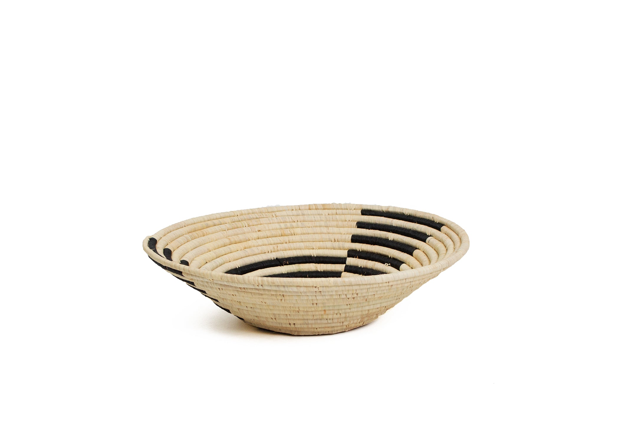 Geo Black Large Raffia Bowl - KAZI - Artisan made high quality home decor and wall art