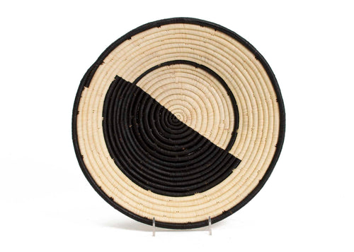 Geo Black II Extra Large Raffia Bowl