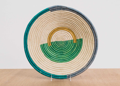 Geo Emerald Bay Extra Large Raffia Bowl