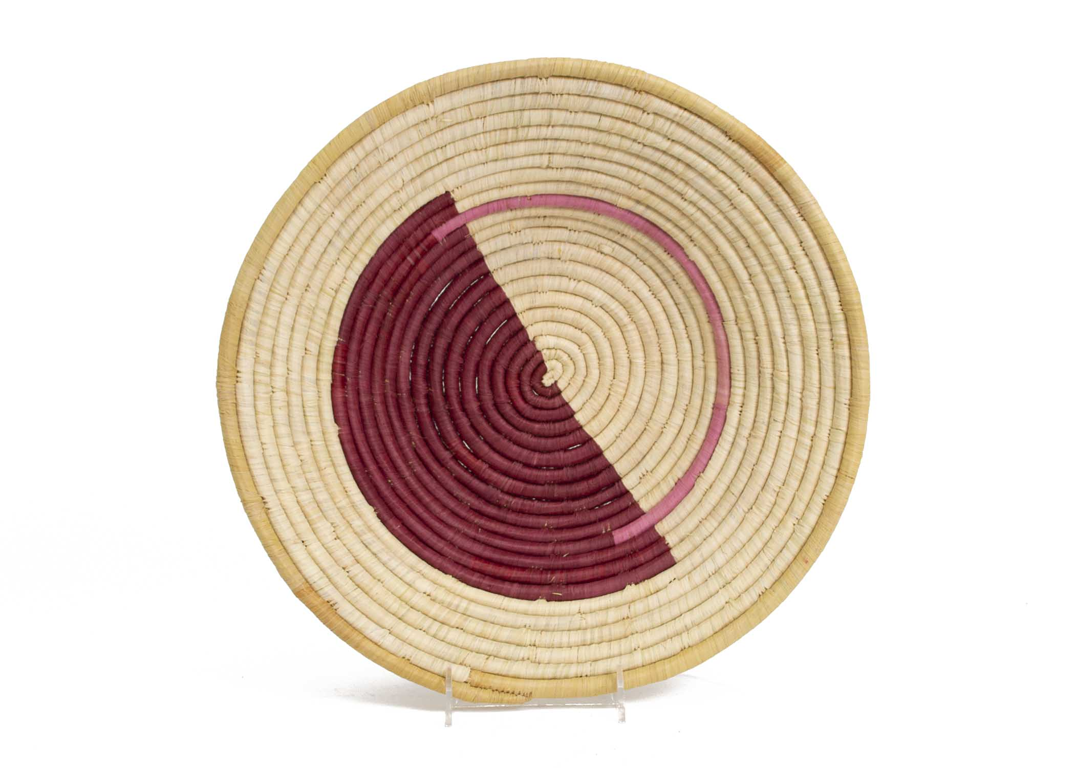 Geo Rosette Extra Large Raffia Bowl - KAZI - Artisan made high quality home decor and wall art