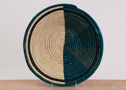 Cool Color Blocked Raffia Jumbo Bowl
