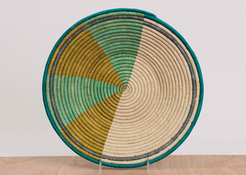 Geo Emerald Bay Jumbo Raffia Bowl