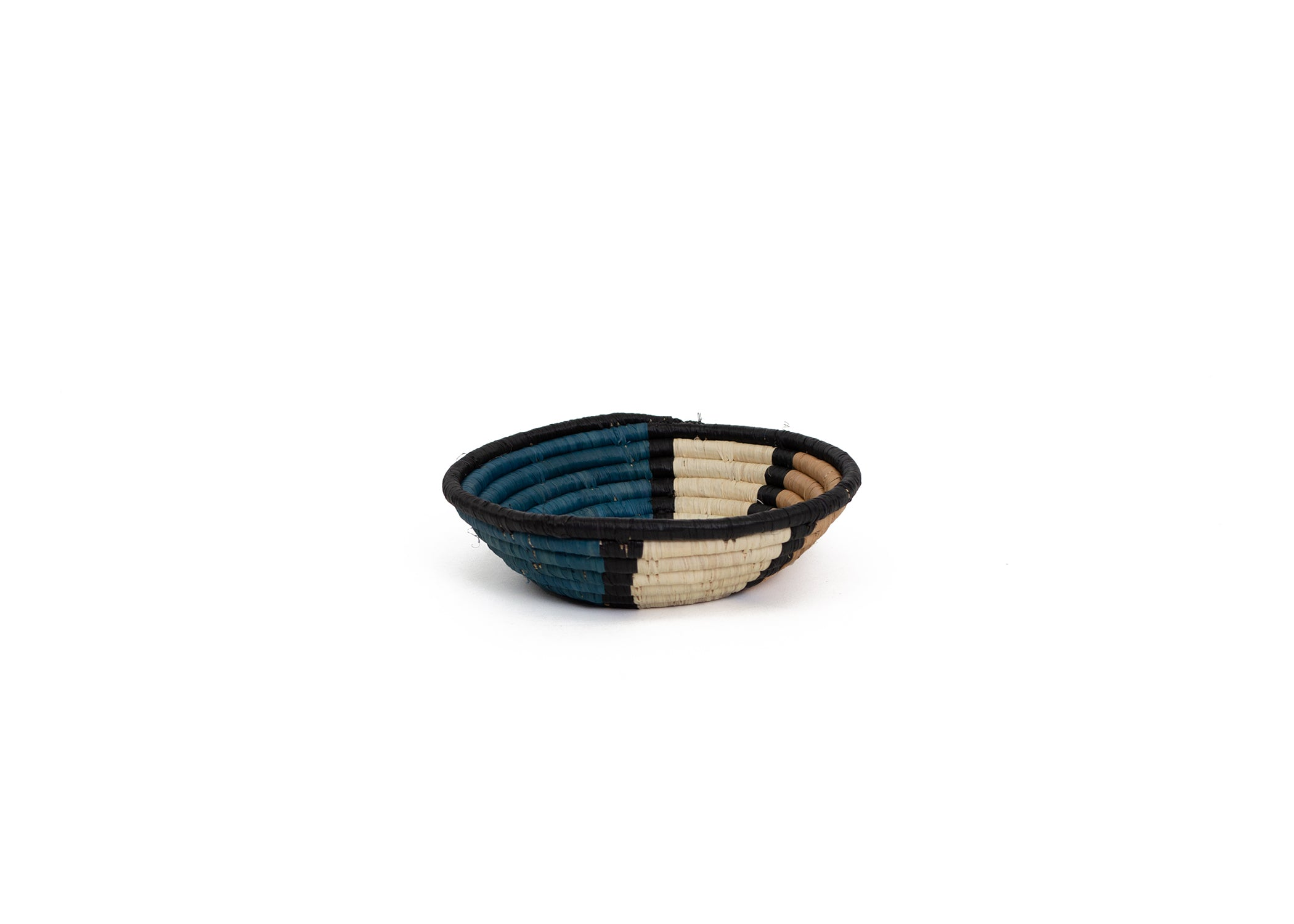 "6"" Small Camel Soleil Round Basket - KAZI - Artisan made high quality home decor and wall art"