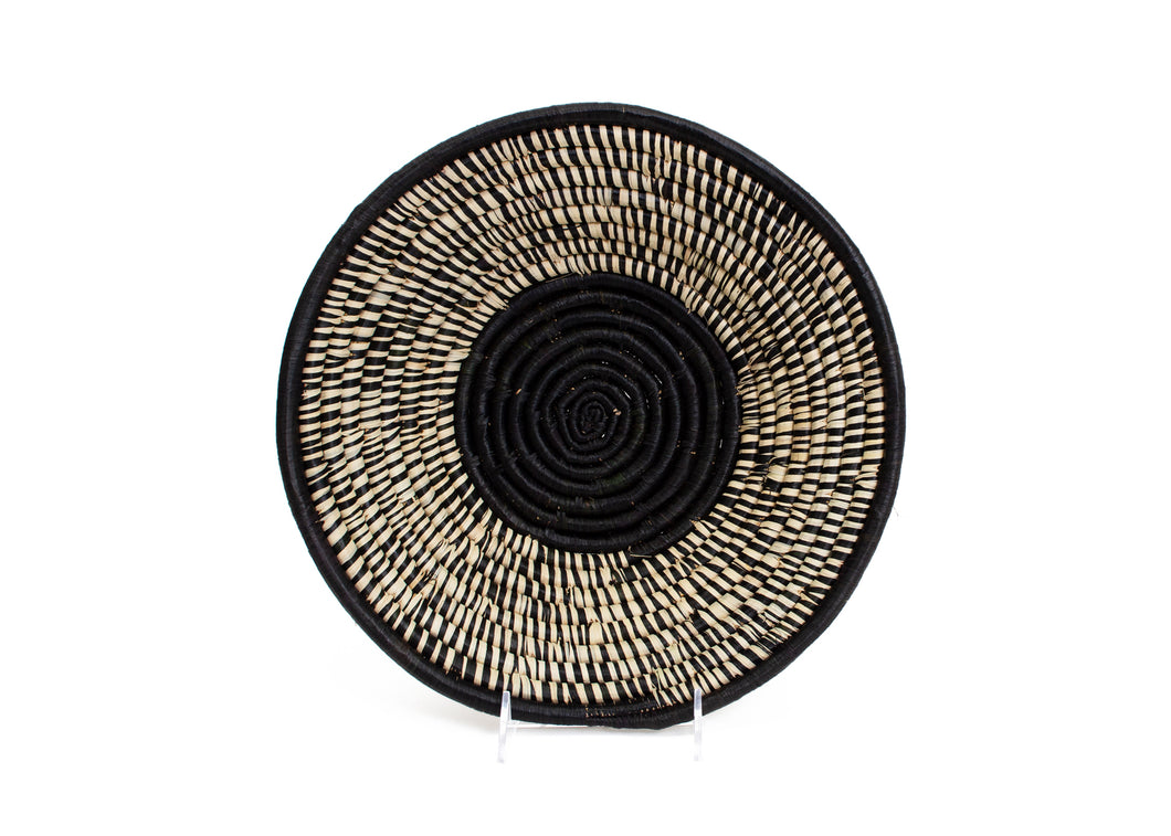 Black Spotted Large Bowl - KAZI - Artisan made high quality home decor and wall art