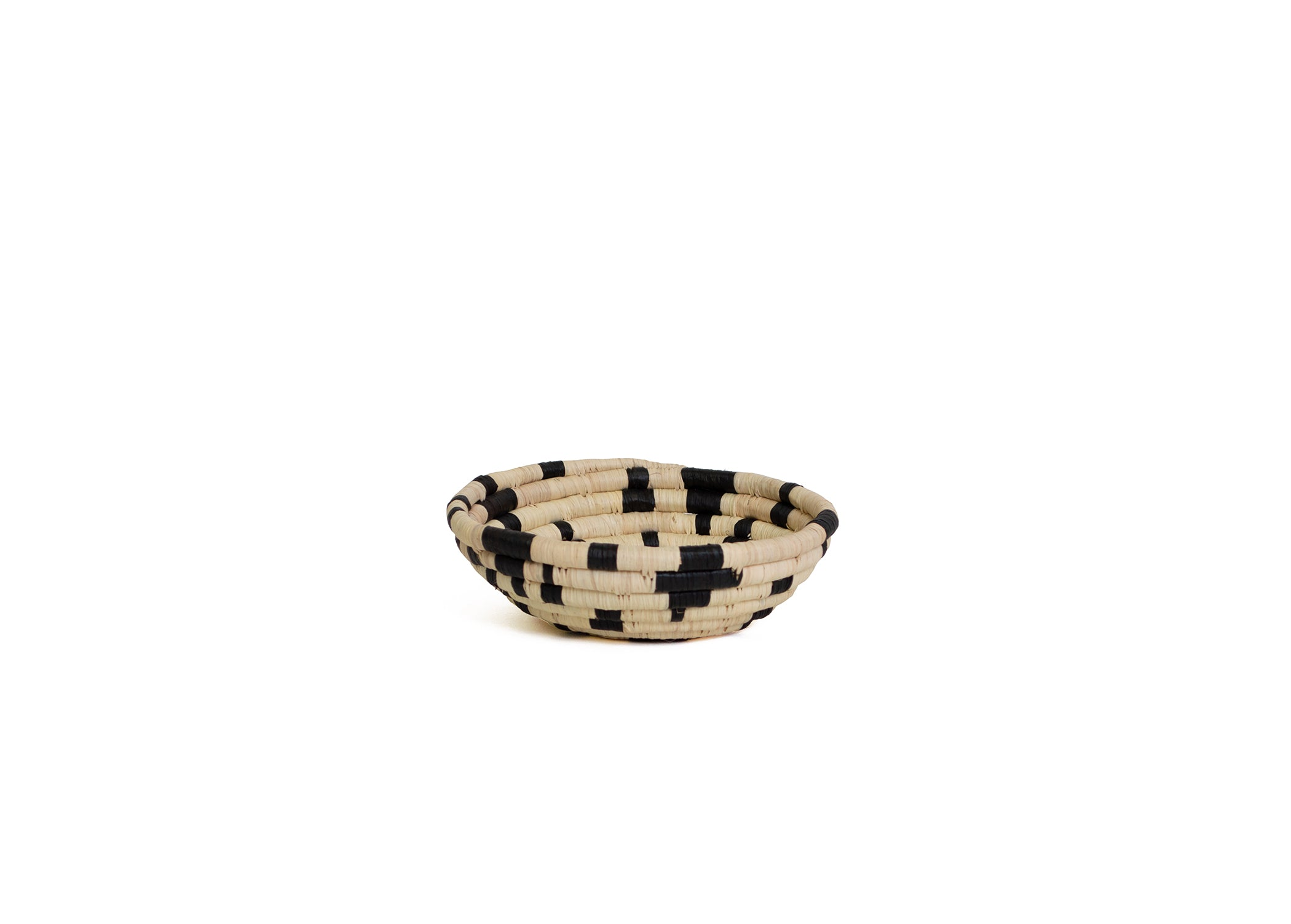 Black + Natural Terrazzo Small Bowl - KAZI - Artisan made high quality home decor and wall art