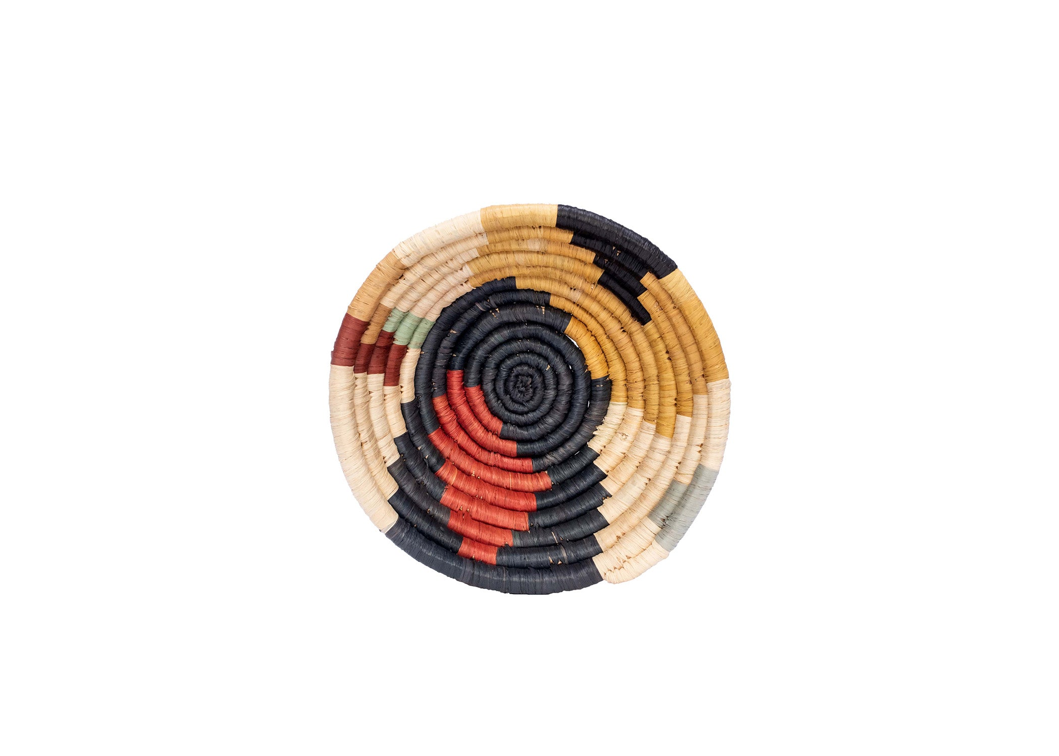 "6"" Small Mod Sukari Round Basket - KAZI - Artisan made high quality home decor and wall art"
