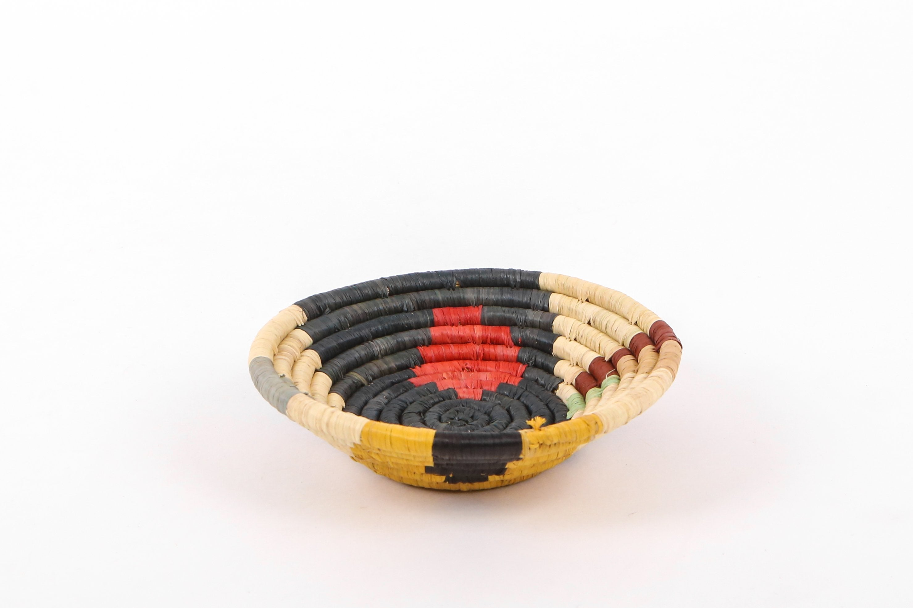 "6"" Small Mod Sukari Round Basket (M) - KAZI - Artisan made high quality home decor and wall art"