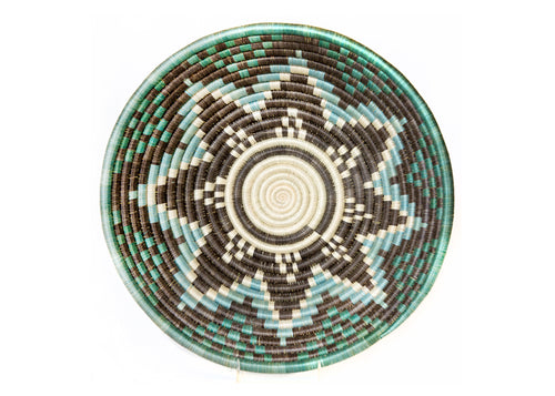 Extra Large Brown and Aqua Akagera Basket