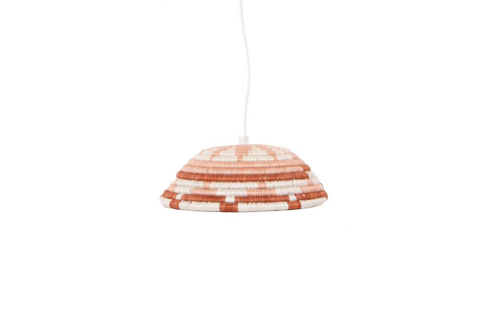 Small Dusty Peach Lamp Pendant - KAZI