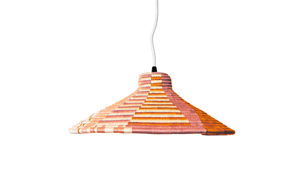 Medium Blushed Terracotta Lamp Pendant I - KAZI - Artisan made high quality home decor and wall art