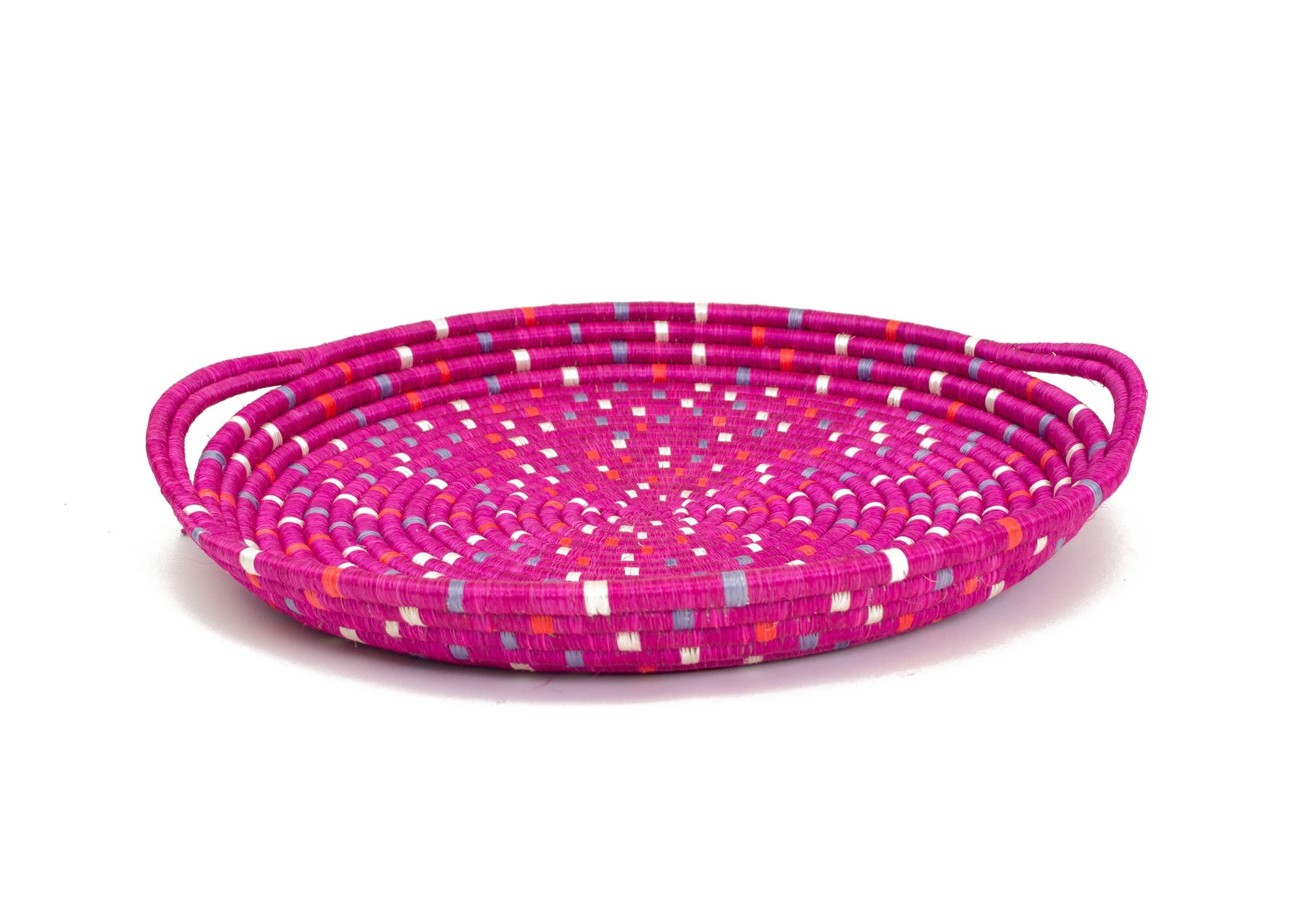 Speckled Vivid Viola Serving Tray with Handles - KAZI - Artisan made high quality home decor and wall art