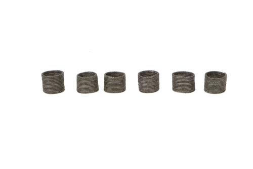 Charcoal Napkin Rings, Set of 6