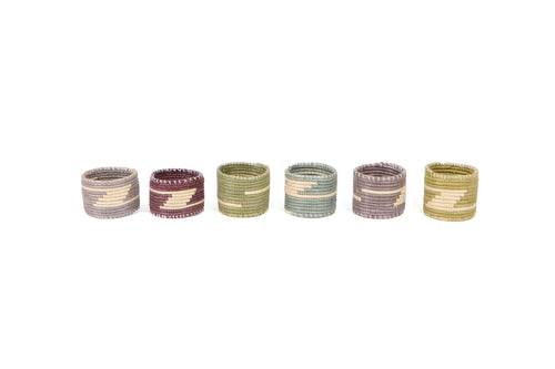 Mulitcolor Napkin Rings II, Set of 6