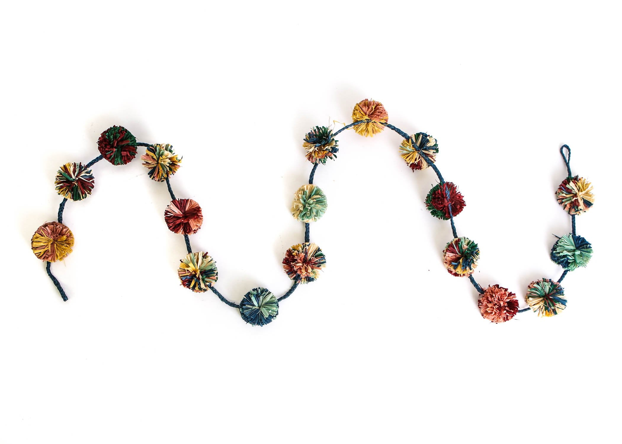 Heathered Multicolor Pom Pom Garland - KAZI