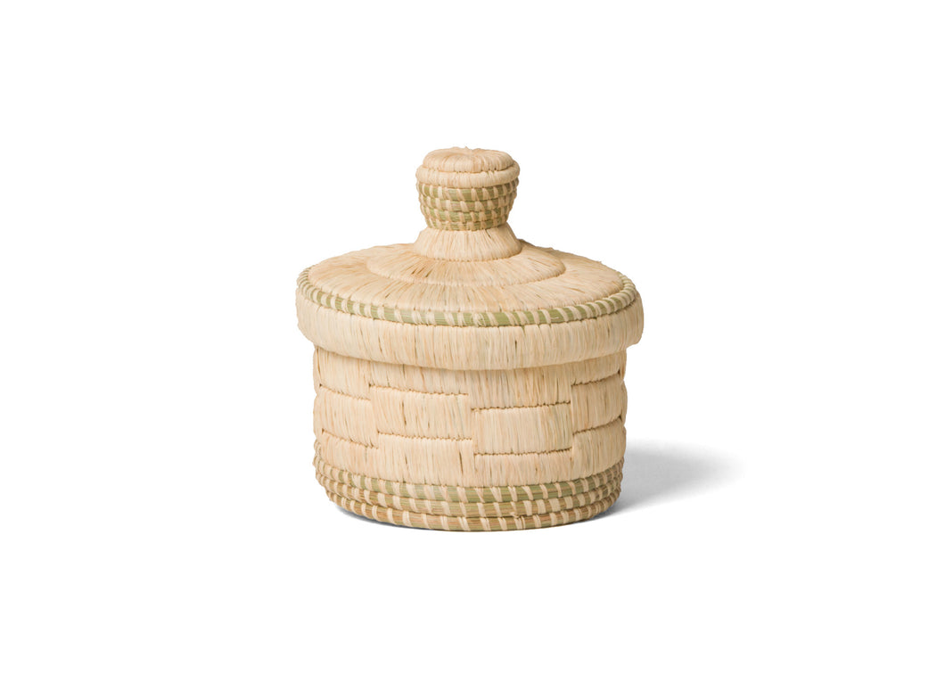 Short Natural Lidded Box - KAZI - Artisan made high quality home decor and wall art