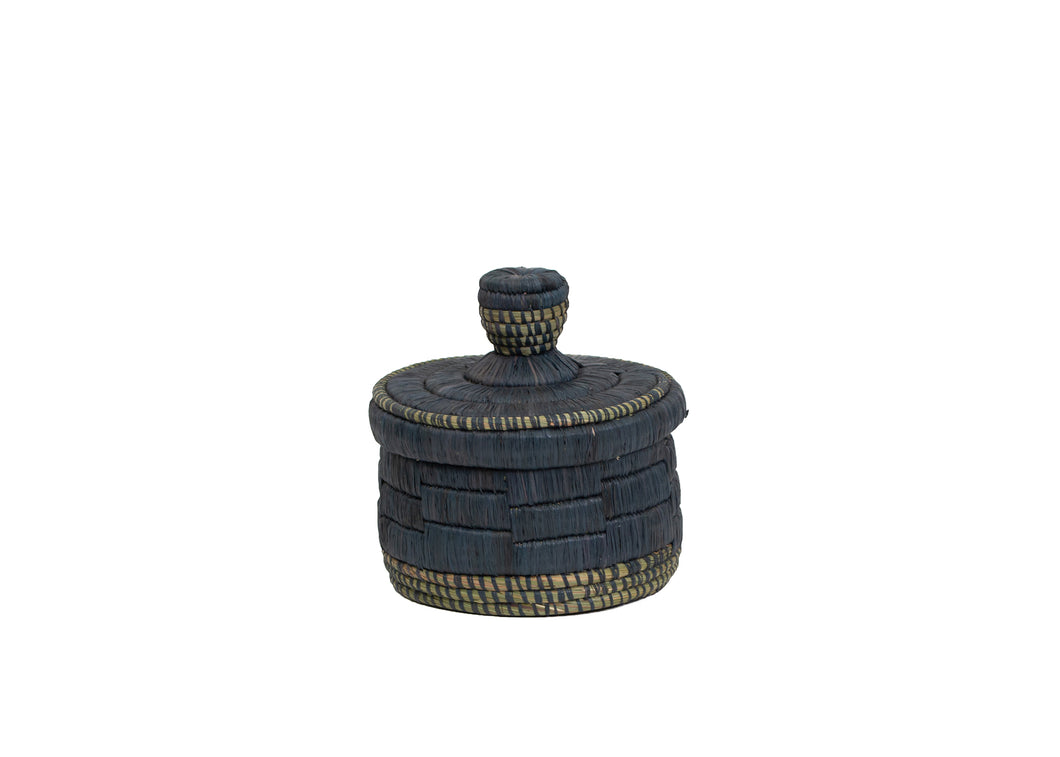 Short Raffia Slate Box - KAZI - Artisan made high quality home decor and wall art