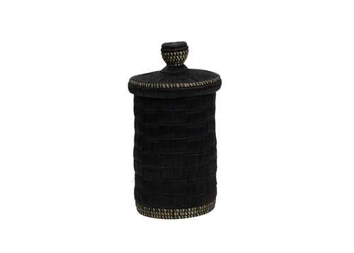 Tall Raffia Black Box