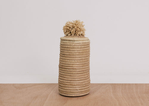 Natural Mfale Pom Pom Box