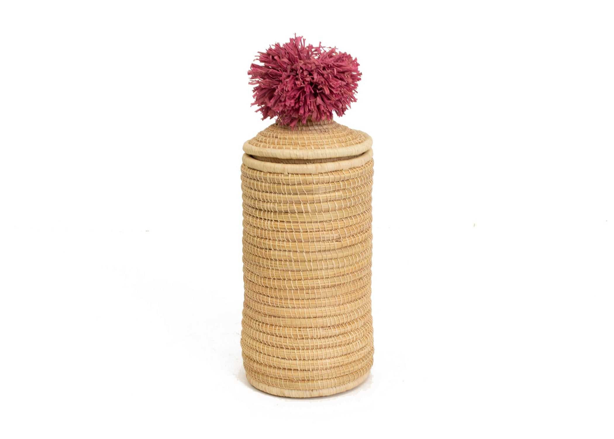 Rosette Mfale Pom Pom Box - KAZI - Artisan made high quality home decor and wall art