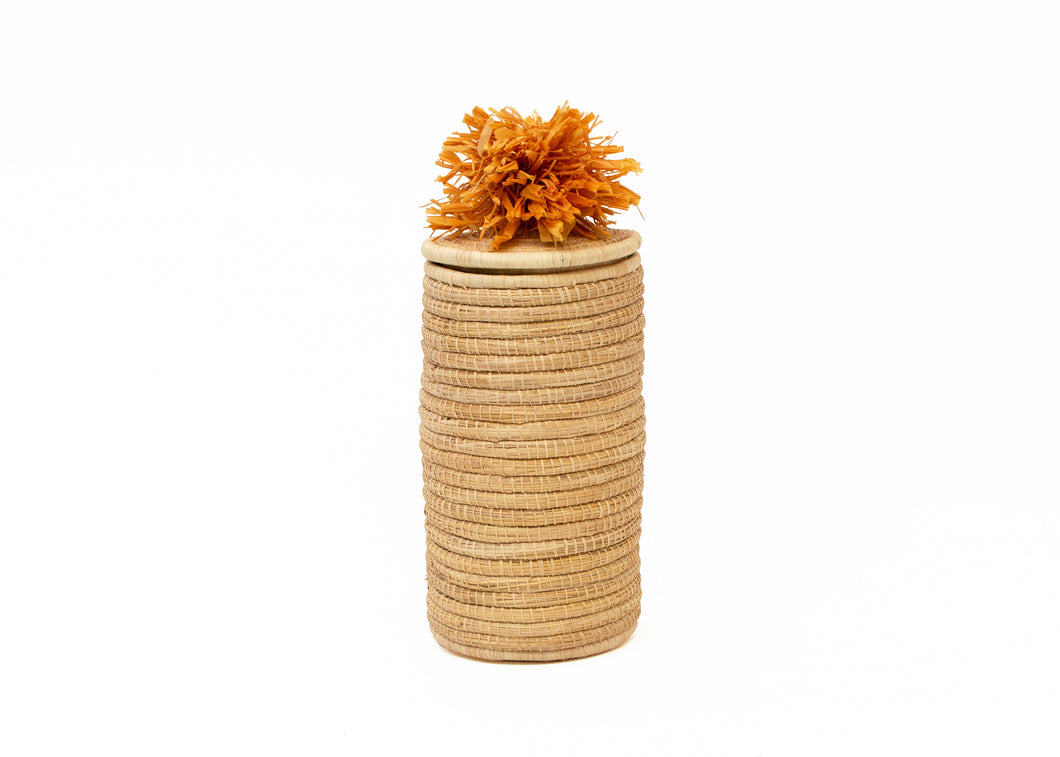 Sunset Tina Pom Pom Box - KAZI - Artisan made high quality home decor and wall art