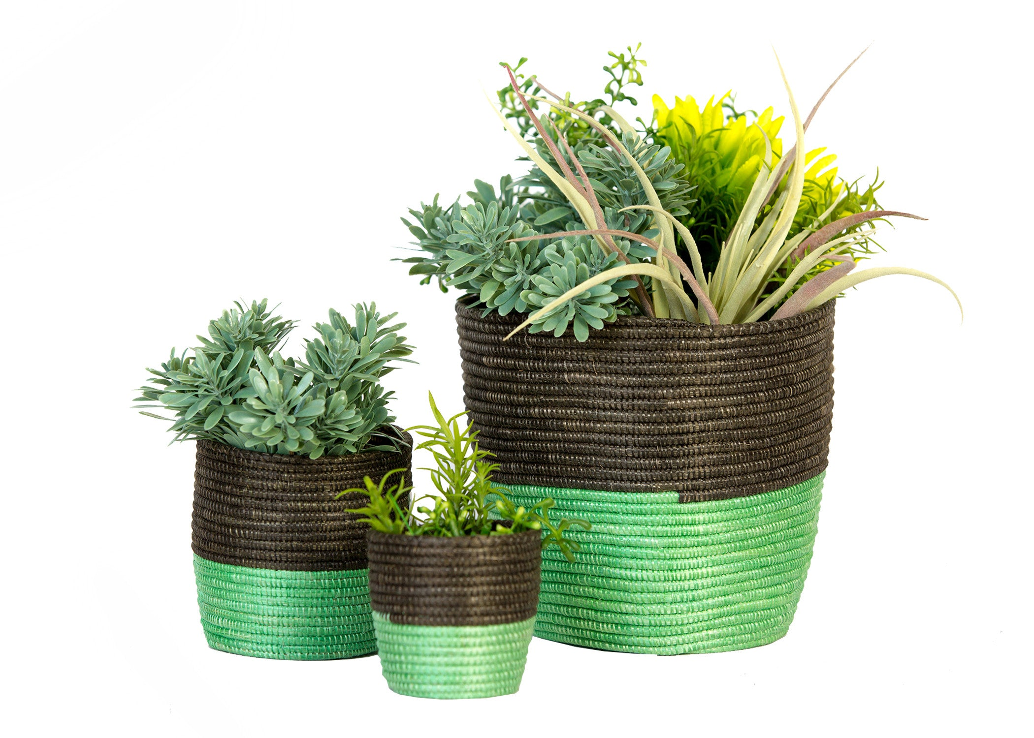 Large Peppermint and Gray Planter - KAZI