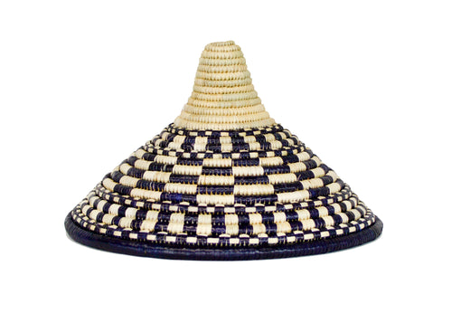 Medium Patterned Black Ugandan Lid