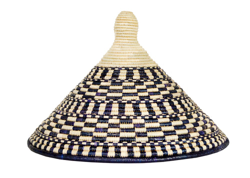 Large Patterned Black Ugandan Lid