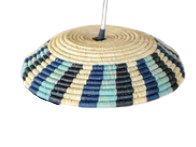 "13"" Blue Night Lamp Pendant - KAZI - Artisan made high quality home decor and wall art"