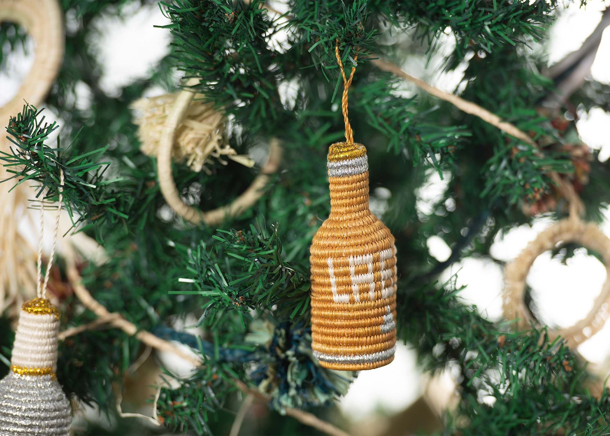 Lager Bottle Ornament  (M) - KAZI - Artisan made high quality home decor and wall art