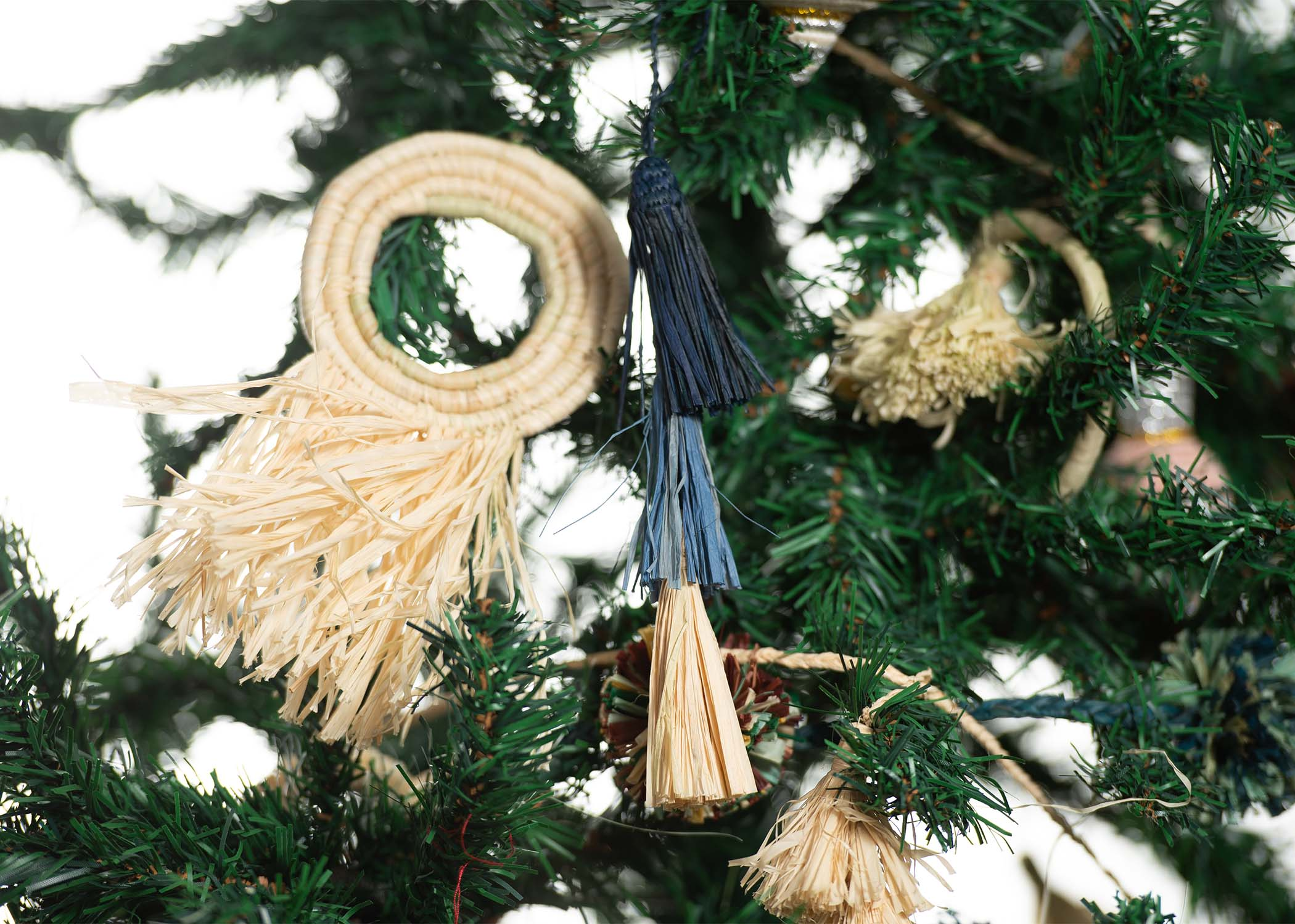 Blue Tassels Ornament (M) - KAZI - Artisan made high quality home decor and wall art