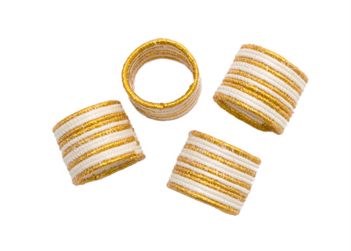Metallic Gold Napkin Rings, Set of 4