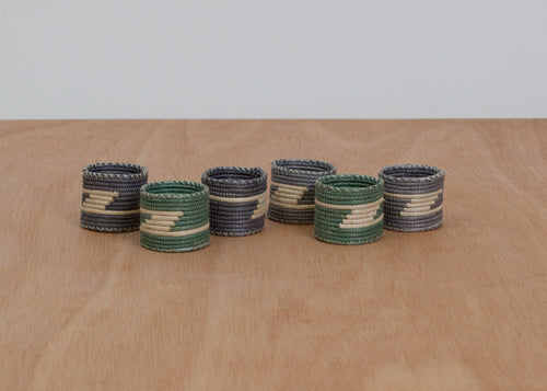 Aqua Sea Napkin Rings, Set of 6