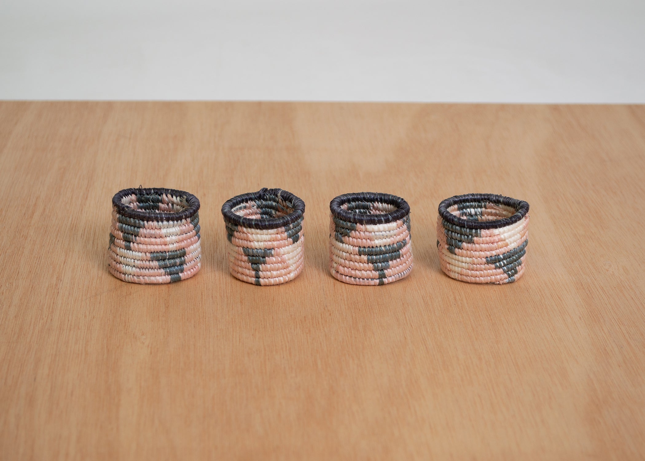 Cloud Pink Napkin Rings - KAZI - Artisan made high quality home decor and wall art