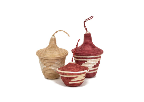 Earth Red Ornaments, set of 3