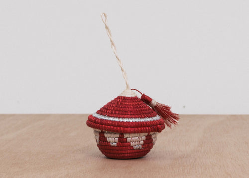 Fiery Red Tasseled Ornament