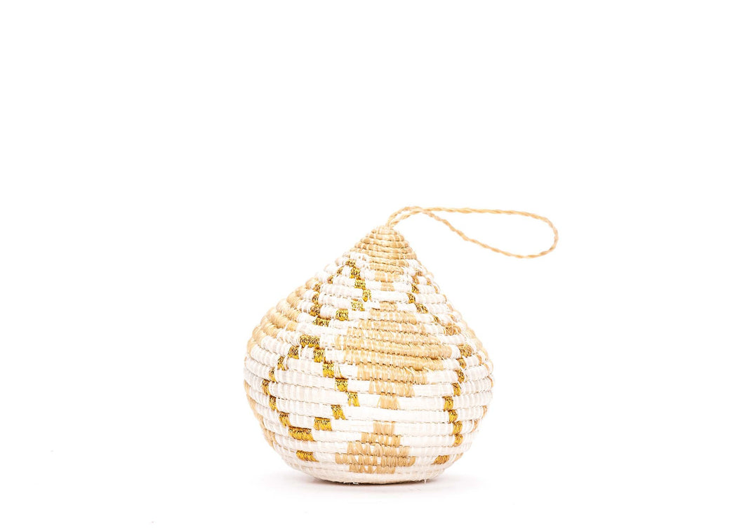 Soft Gold Bulb Ornament - KAZI - Artisan made high quality home decor and wall art