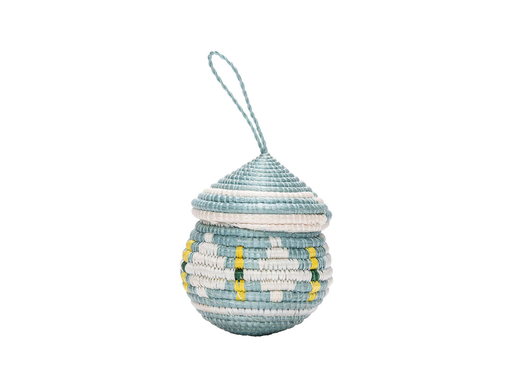 Silver Blue Easter Egg Shaped Box - KAZI - Artisan made high quality home decor and wall art