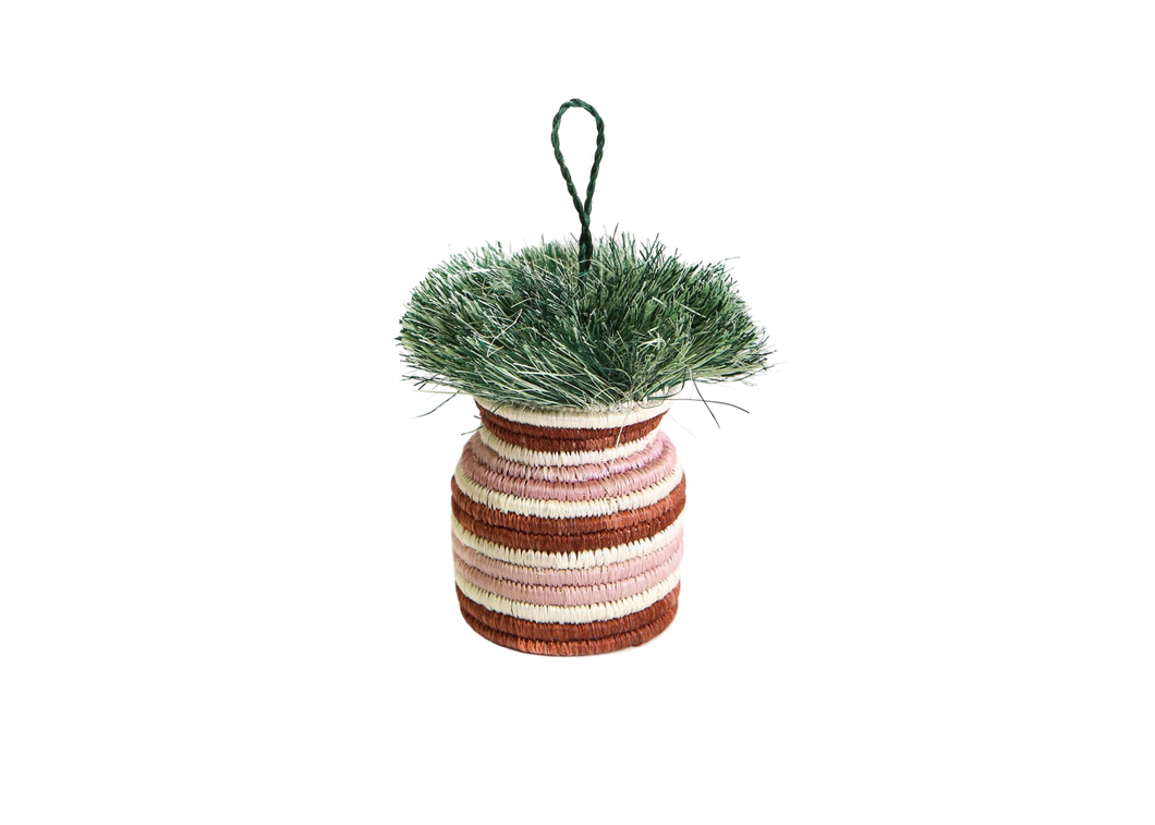 Banded Planter Ornament 03 - KAZI