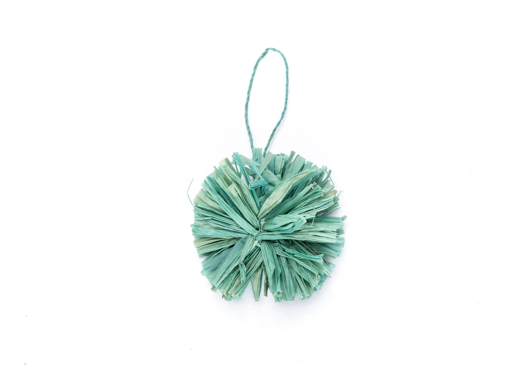 Mist Pom Pom Ornament - KAZI - Artisan made high quality home decor and wall art